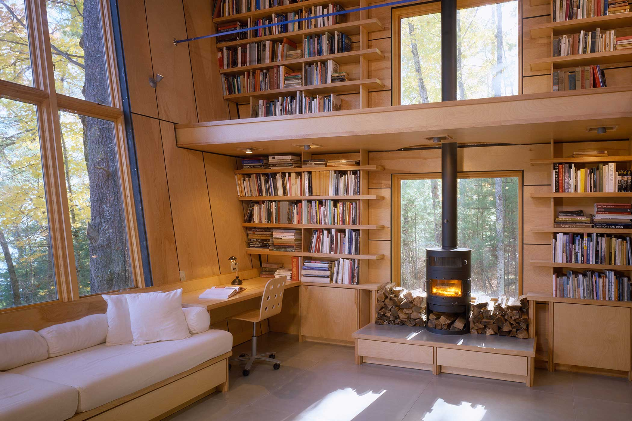 'Lake House - Library' by Christopher Campbell Architecture