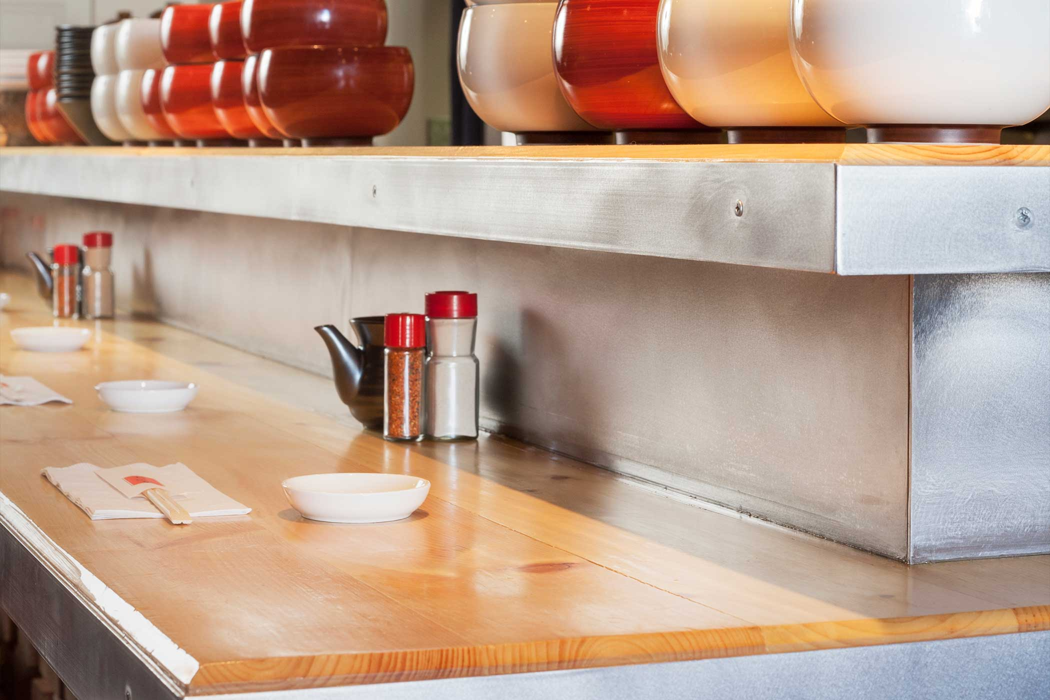 'Noodle Shop - Counter detail' by Christopher Campbell Architecture
